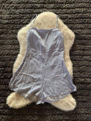 Robe Babydoll blanc-bleu clair