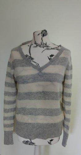 Cashmere Jumper white-grey