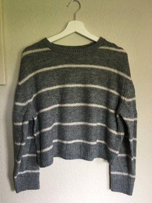 H&M Sweter z dzianiny szary-biały