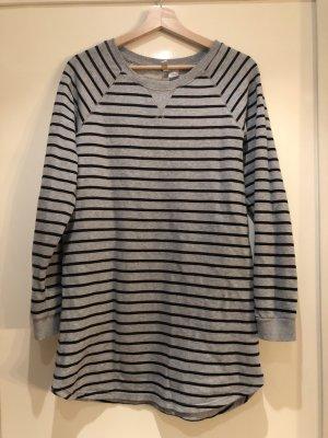 H&M Długi sweter czarny-jasnoszary