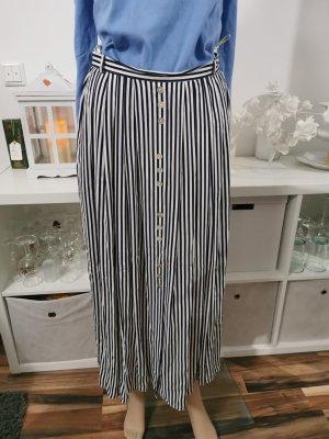 Franco Callegari Maxi Skirt white-dark blue
