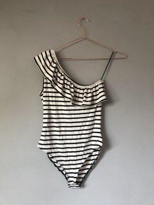 Edited Camicia monospalla bianco sporco-nero