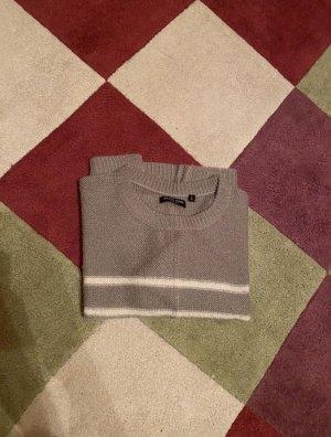 Brave Soul Sweter oversize jasnoszary-biały