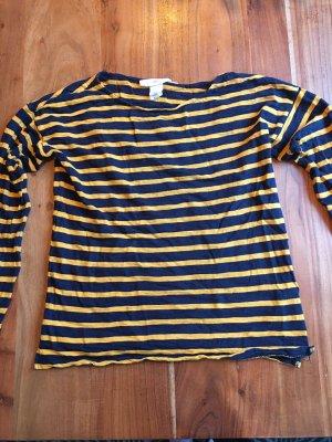 Gestreifter Pullover in gelb/blau