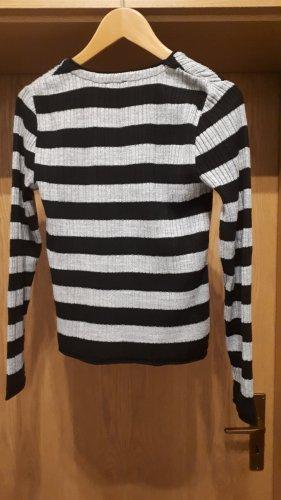 Boule V-Neck Sweater black-silver-colored polyacrylic