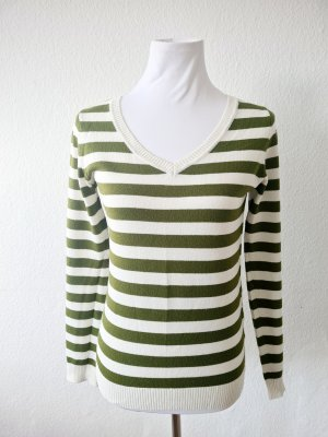 Colors of the world Knitted Sweater white-olive green
