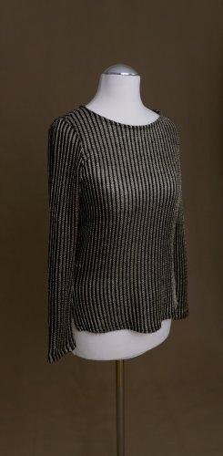 Topshop Jersey de cuello redondo negro-color oro