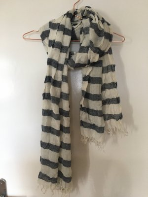 Abercrombie & Fitch Summer Scarf natural white-dark grey