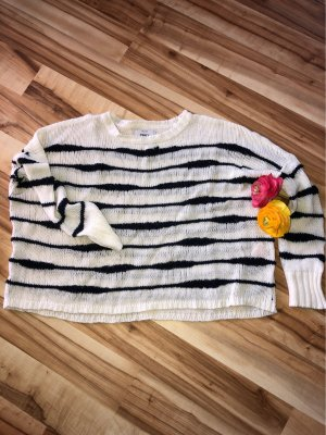 Only Oversized Sweater white-black