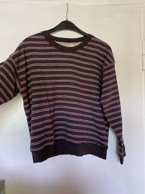 Pull & Bear Maglione lungo marrone-rosso-blu scuro