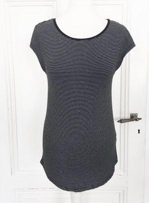 C&A Basics Long Shirt black-white viscose