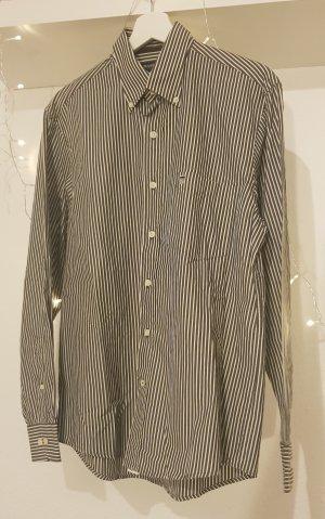 Basefield Camicia a maniche lunghe grigio scuro-bianco