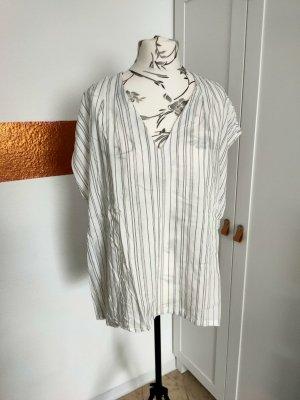 Devided von H&M T-Shirt white-black viscose