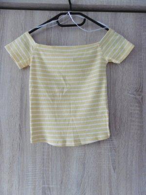 H&M Camisa tipo Carmen blanco-amarillo