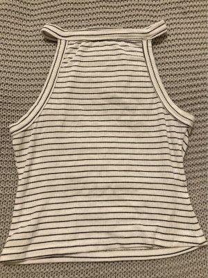 H&M Top o skróconym kroju biały-czarny