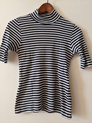 Mads nørgaard Ribbed Shirt white-dark blue cotton