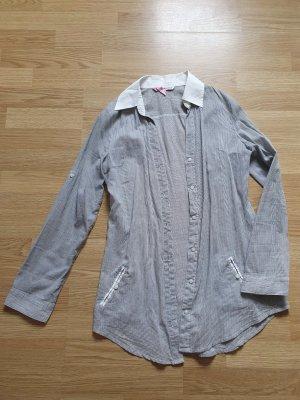 Tally Weijl Camicia a maniche lunghe bianco-azzurro