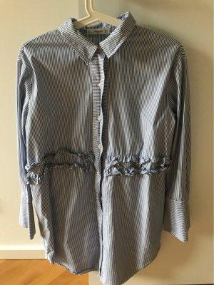 Mango casual Camisa de manga larga blanco-azul