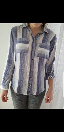 Blusa bianco-azzurro