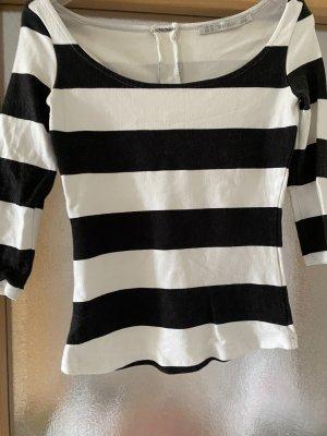Zara T-shirt nero-bianco Cotone