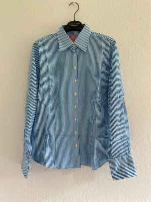 Charles Tyrwhitt Long Sleeve Shirt white-cornflower blue cotton