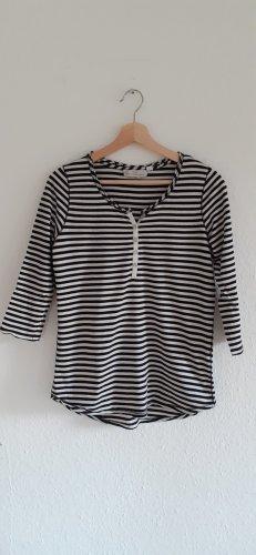 H&M L.O.G.G. Stripe Shirt white-black