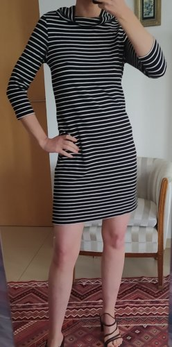 Black Label Robe à manches longues blanc-noir