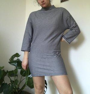 Zara Longsleeve Dress dark blue-light grey