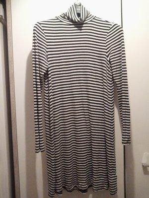Gestreiftes Kleid GAP Gr.S schwarz-weiß viskose