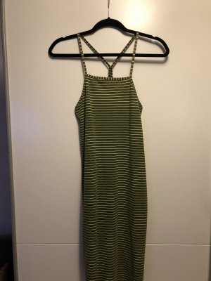 Gestreiftes Kleid mit Rückenausschnitt