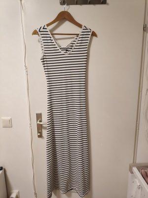 gestreiftes Kleid mit Rückendetail
