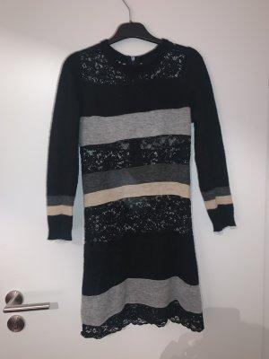 Gestreiftes Kleid on Dolce & Gabbana mit Spitze