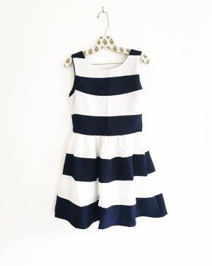 gestreiftes kleid • vintage • blau • weiss • mini