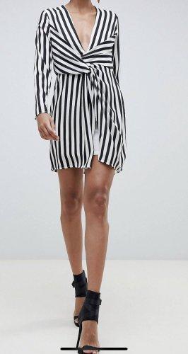 Missguided Empire Dress white-black