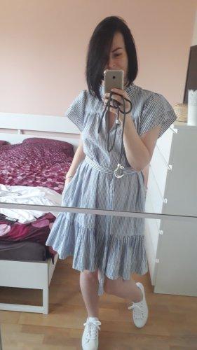 Gestreiftes Kleid von Sabina Musayev, Größe M, Weiß\Blau