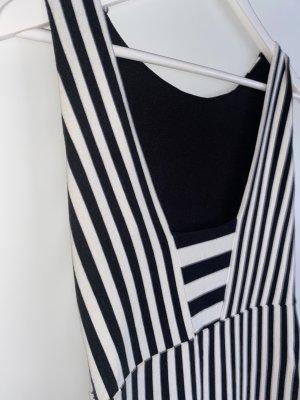 Zara Vestido ceñido de tubo blanco-negro