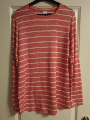 Sweatshirt rouge clair-blanc polyester