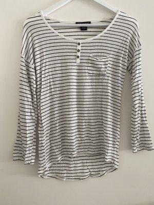 American Dreams Lang shirt wit-zwart Gemengd weefsel