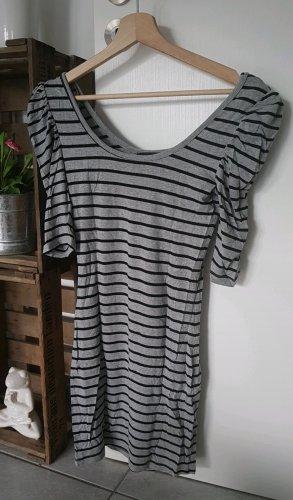 Gestreiftes Longshirt schwarz & grau
