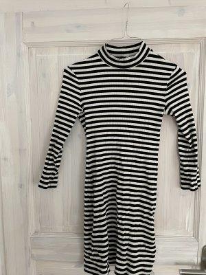 Gestreiftes Mini Kleid aus Jersey