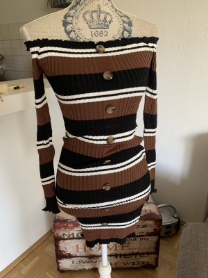 Gebreide jurk veelkleurig Katoen