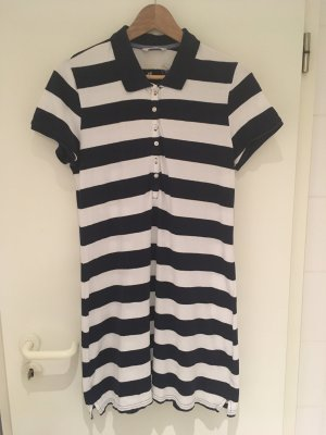 H&M L.O.G.G. Polo Dress dark blue-white cotton