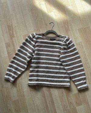 Reserved Sweter z okrągłym dekoltem w kolorze białej wełny-beżowy