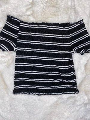 Chemise côtelée noir-blanc