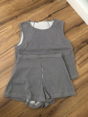 Gestreiftes Set aus Shirt/Top und Shorts Maritim