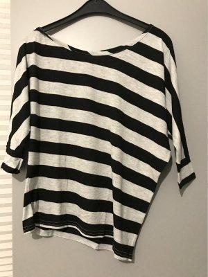 FB Sister One Shoulder Shirt light grey-black