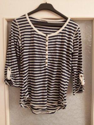 40 Grad Camisa de rayas blanco-azul oscuro