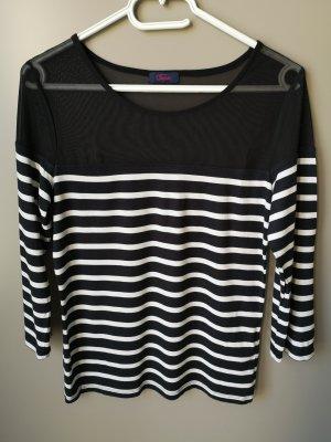 Buffalo Stripe Shirt white-black