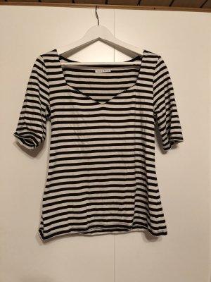 Mint&berry Stripe Shirt white-black
