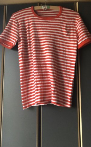 American Vintage Polo shirt wit-rood